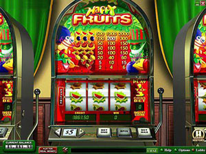 Fruit machine and gambling with lives