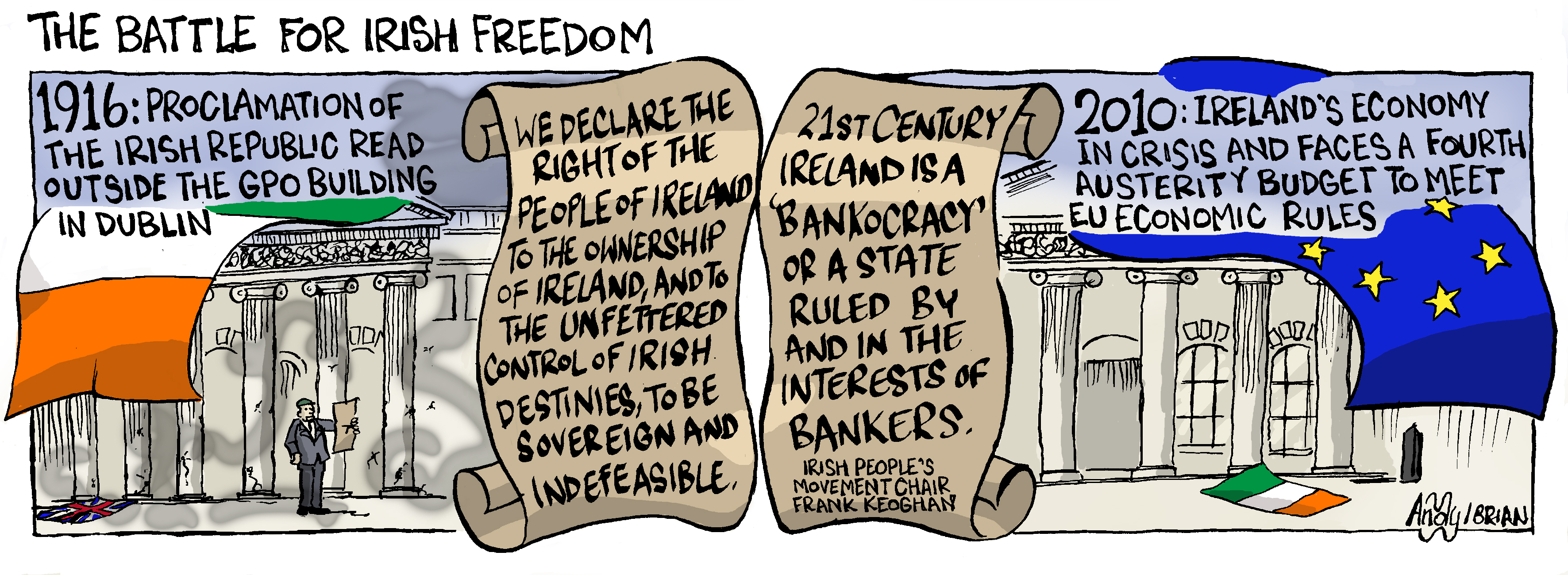 Ireland's independence lost under ECB&IMF dominance