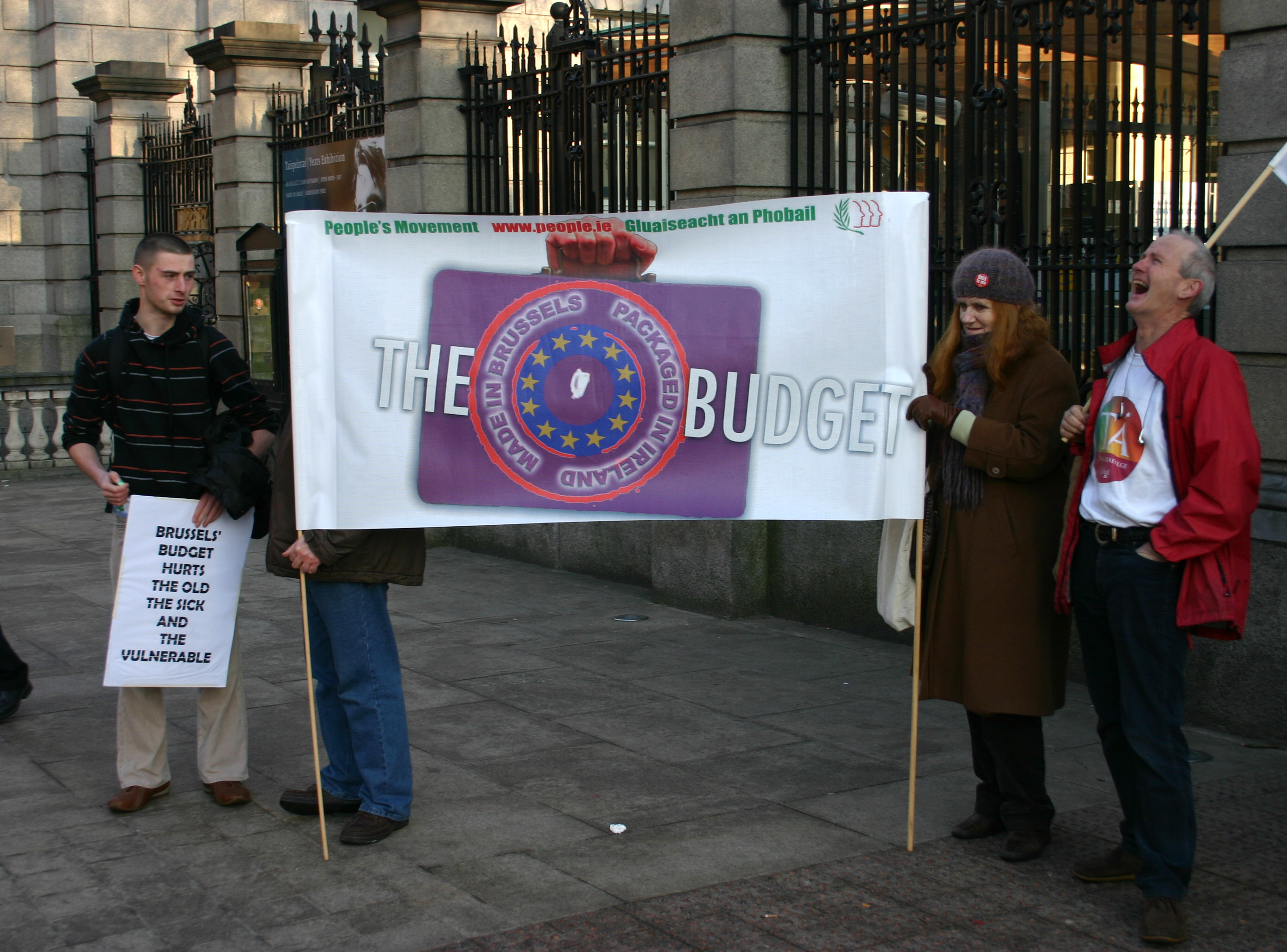 Protesting against austerity policy in Dublin
