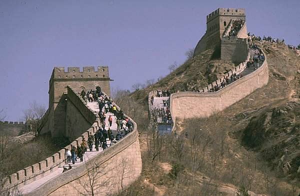 The wall of China